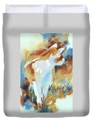 2004 Cat On The Prowl  I  Duvet Cover by Kathy Braud