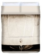 2005 Maserati Mc12 Hood Ornament Duvet Cover by Jill Reger