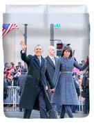 2013 Inaugural Parade Duvet Cover by Ava Reaves