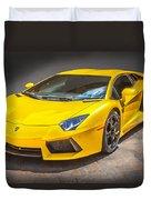 2013 Lamborghini Adventador Lp 700 4 Duvet Cover by Rich Franco