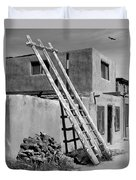 Acoma Pueblo Adobe Homes Duvet Cover by Mike McGlothlen