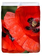 Beautiful Poppies 2 Duvet Cover by Carol Lynch