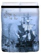 Blame It On The Rum Schooner Duvet Cover by John Stephens