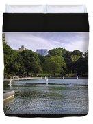 Central Park Pond Duvet Cover by Madeline Ellis
