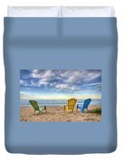 3 Chairs Duvet Cover by Scott Norris