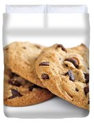 Chocolate chip cookies Duvet Cover by Elena Elisseeva