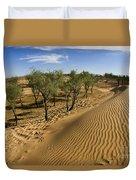 Desert Tamarix Trees Duvet Cover by Dan Yeger