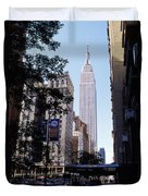Empire State Building Duvet Cover by Jon Neidert
