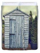 Garden Shed Duvet Cover by Amanda Elwell