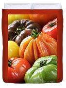 Heirloom Tomatoes Duvet Cover by Elena Elisseeva