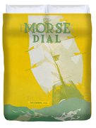 Morse Dry Dock Dial Duvet Cover by Edward Hopper