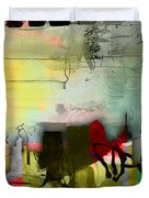 Nashville Skyline Watercolor Duvet Cover by Marvin Blaine