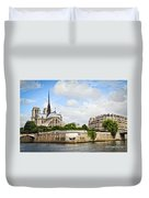 Notre Dame De Paris Duvet Cover by Elena Elisseeva