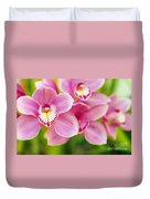 Orchids Duvet Cover by Carlos Caetano