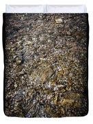 Rocks In Water Duvet Cover by Elena Elisseeva