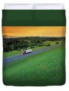 Semi-trailer Truck Duvet Cover by Don Hammond