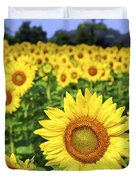 Sunflower field Duvet Cover by Elena Elisseeva