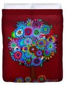 Tree Of Hope Duvet Cover by Pristine Cartera Turkus