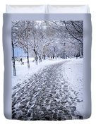 Winter Park Duvet Cover by Elena Elisseeva