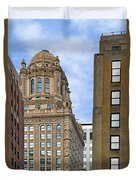 35 East Wacker - Jewelers' Building Chicago Duvet Cover by Christine Till