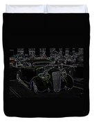 35 Ford Coupe Neon Glow Duvet Cover by Steve McKinzie