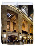 360 Panorama of Grand Central Station Duvet Cover by David Smith
