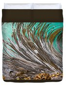 Bull Kelp Blades On Surface Background Texture Duvet Cover by Stephan Pietzko