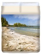 Coast Of Pacific Ocean On Vancouver Island Duvet Cover by Elena Elisseeva