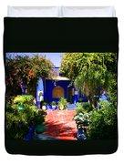 Majorelle Garden Marrakesh Morocco Duvet Cover by Ralph A  Ledergerber-Photography