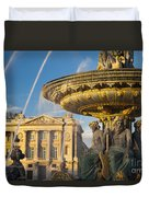 Paris Fountain Duvet Cover by Brian Jannsen