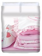 Pink Baby Clothes For Infant Girl Duvet Cover by Elena Elisseeva
