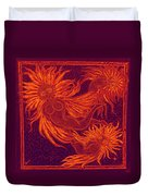 Angels At Play Duvet Cover by Lyn Dufty