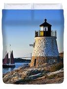Castle Hill Lighthouse Duvet Cover by John Greim