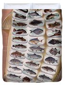 50 Fish from American Waters Duvet Cover by Nomad Art And  Design