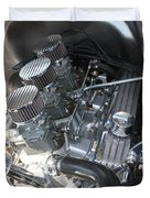 55 Bel Air Engine-8202 Duvet Cover by Gary Gingrich Galleries