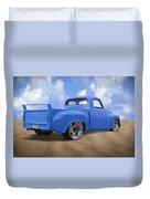 56 Studebaker Truck Duvet Cover by Mike McGlothlen