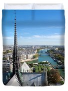 Paris Panorama France Duvet Cover by Michal Bednarek