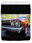 68 Chevelle  Color Duvet Cover by Cheryl Young