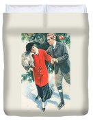 Christmas Card Duvet Cover by American School