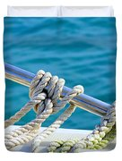 The Ropes Duvet Cover by Laura  Fasulo