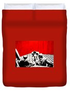 Black Lodge  Duvet Cover by Luis Ludzska