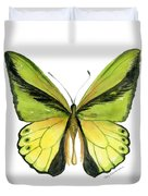 8 Goliath Birdwing Butterfly Duvet Cover by Amy Kirkpatrick