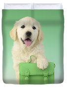 9 - 5 Retriever Dp914sq Duvet Cover by Greg Cuddiford