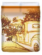 A and W Drive In Duvet Cover by Bobbee Rickard