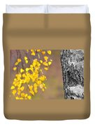A Birch At The Lake Duvet Cover by Toppart Sweden