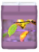 A Branch With Leaves Duvet Cover by Toppart Sweden