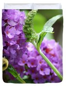 A Bumblebee In The Garden Duvet Cover by Kim Pate