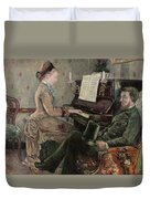 A Captive Audience Duvet Cover by Frederic Samuel Cordey