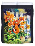 A Choir Of Poppies Duvet Cover by Kathy Braud
