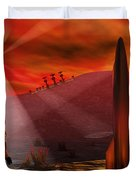 A Colony Being Established On An Alien Duvet Cover by Mark Stevenson